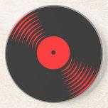 Práctico de costa retro del disco de vinilo del vi posavasos personalizados
