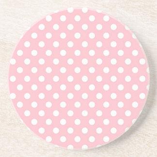 Práctico de costa retro rosa claro del modelo de l posavasos diseño