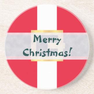 Práctico de costa rojo alegre de Santa del navidad Posavasos Manualidades