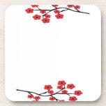 Práctico de costa rojo del corcho de las flores de posavaso