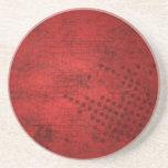 Práctico de costa rojo del fondo del Grunge Posavasos Personalizados