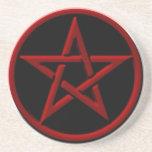 Práctico de costa rojo del Pentagram Posavasos Manualidades