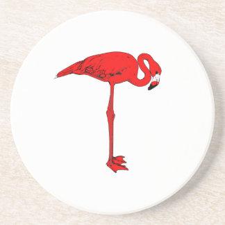 Práctico de costa rojo grande del pájaro posavasos de arenisca