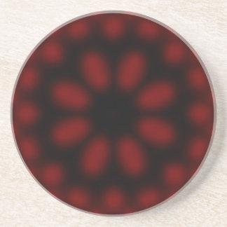 Práctico de costa rojo y negro posavasos manualidades