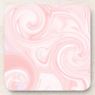 Práctico de costa rosado de la bebida del remolino posavasos de bebidas