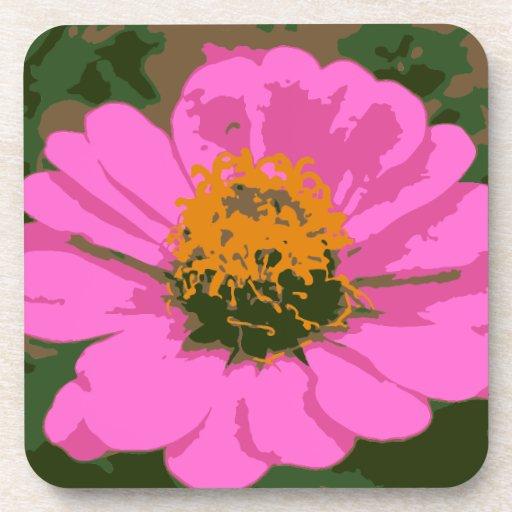 Práctico de costa rosado de la flor posavaso