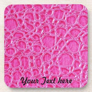 Práctico de costa rosado de la mirada del cuero de posavaso