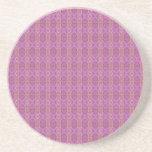 Práctico de costa rosado de la piedra arenisca de  posavasos diseño