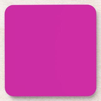 Práctico de costa rosado de neón caliente del corc posavasos