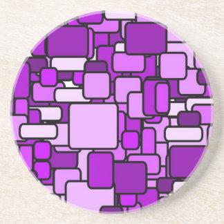 Práctico de costa rosado del caos posavasos personalizados