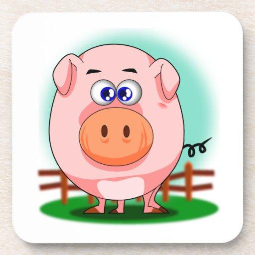 Práctico de costa rosado del cerdo posavaso