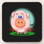 Práctico de costa rosado del cerdo posavasos de bebida