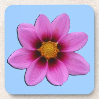 Práctico de costa rosado del corcho de la flor posavaso