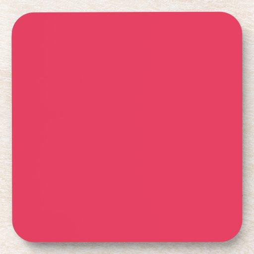 Práctico de costa rosado del corcho del amaranto posavaso