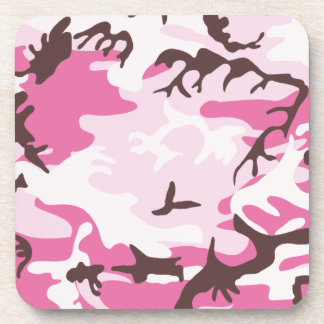 Práctico de costa rosado del corcho del camuflaje posavasos
