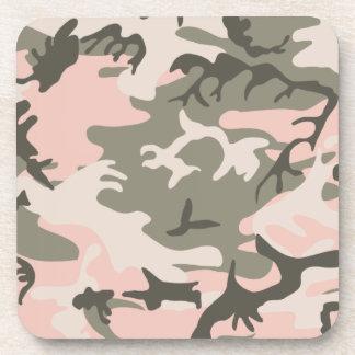 Práctico de costa rosado del corcho del camuflaje posavasos de bebida