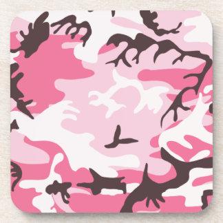 Práctico de costa rosado del corcho del camuflaje posavasos de bebidas