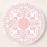 Práctico de costa rosado del estampado de flores d posavasos manualidades