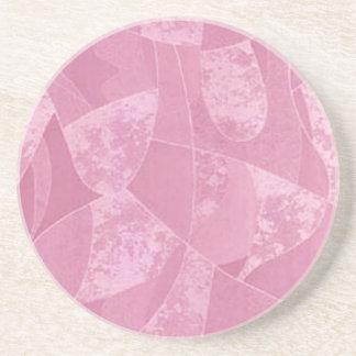 Práctico de costa rosado del vidrio de la mancha posavasos de arenisca