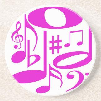 Práctico de costa rosado musical posavasos manualidades