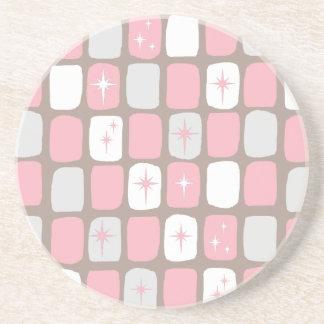 Práctico de costa rosado retro de la bebida de la posavasos manualidades