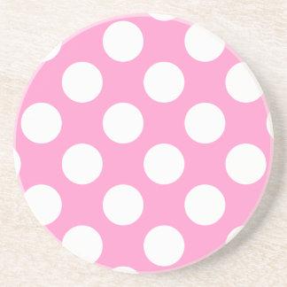 Práctico de costa rosado y blanco de los lunares posavasos manualidades