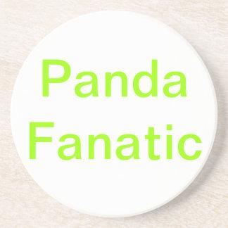 Práctico de costa simple del fanático de la panda posavasos diseño