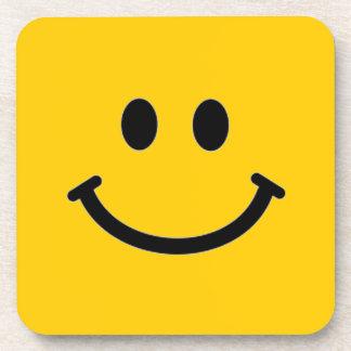 Práctico de costa sonriente de la cara - cuadrado  posavasos
