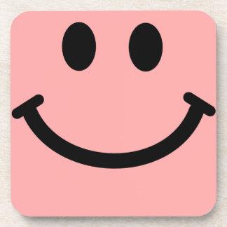 Práctico de costa sonriente rosado coralino del cu posavasos