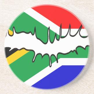 Práctico de costa surafricano del beso de la bande posavasos de arenisca