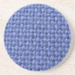 Práctico de costa tejido azul de la textura posavasos diseño