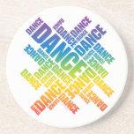 Práctico de costa tipográfico de la danza (espectr posavaso para bebida