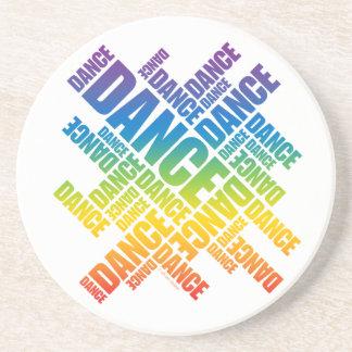 Práctico de costa tipográfico de la danza (espectr posavasos manualidades