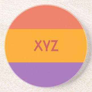 Práctico de costa tricolor del personalizado de la posavasos de arenisca