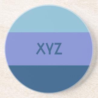 Práctico de costa tricolor del personalizado de la posavasos diseño