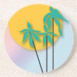 Práctico de costa tropical del arte posavasos para bebidas