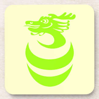 Práctico de costa verde claro del corcho del dragó posavasos de bebidas
