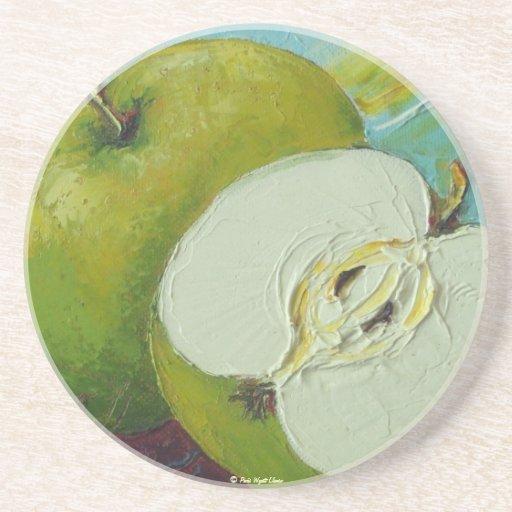 Práctico de costa verde de Apple del granny smith Posavasos Para Bebidas