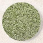Práctico de costa verde de la alfombra posavasos diseño