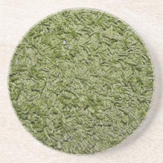 Práctico de costa verde de la alfombra posavasos manualidades