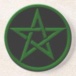 Práctico de costa verde del Pentagram Posavasos Manualidades