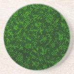 Práctico de costa verde floral del vintage retro posavasos manualidades
