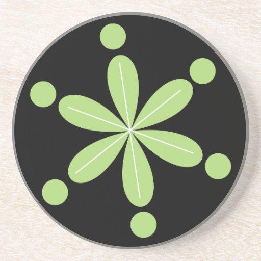 Práctico de costa verde lindo del regalo de la flo posavasos personalizados