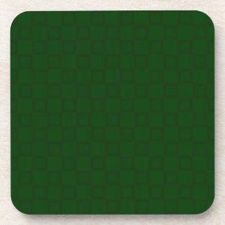 Práctico de costa verde oscuro clásico del corcho posavaso