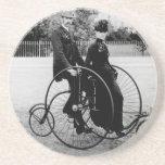 Práctico de costa viejo de la bicicleta posavasos manualidades