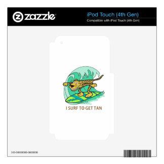 Practico surf calcomanías para iPod touch 4G