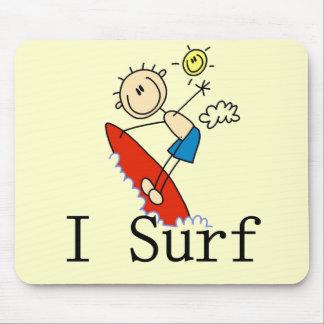 Practico surf las camisetas y los regalos tapete de raton