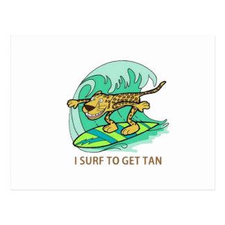 Practico surf tarjeta postal