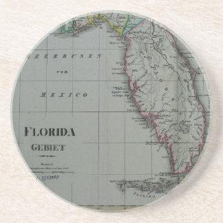 Prácticos de costa 1823 del mapa de la Florida Posavasos Cerveza