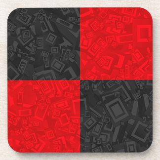 Prácticos de costa a cuadros negros y rojos del portavasos